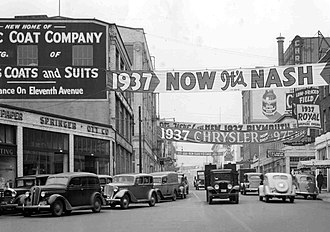 Portland, Oregon - Burnside Street, 1937