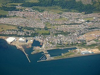 Burntisland - Burntisland docks from the air