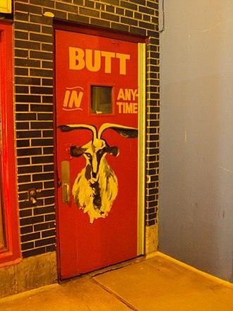 Billy Goat Tavern - door to the tavern