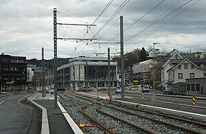 Bergen Light Rail - Construction at Nesttun Terminal