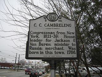 U.S. Route 17 - Historical Marker on U.S. Route 17