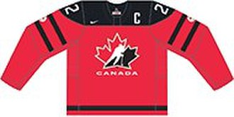 Canada men's national ice hockey team - Image: CANADA AWAY JERSEY 2017