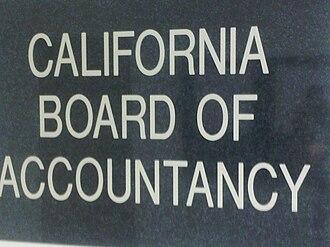 California Board of Accountancy - Image: CBA Sign