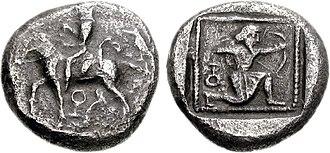 Syennesis (5th century) - Image: CILICIA, Tarsos. Circa 425 400 BC