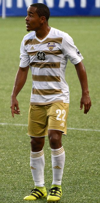 George Davis IV - Davis playing for Louisville City in 2017