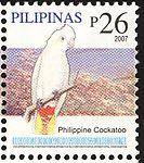 Cacatua haematuropygia 2007 stamp of the Philippines.jpg