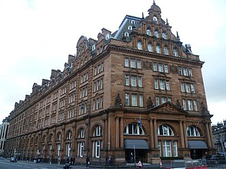 Edinburgh Princes Street railway station - Waldorf Astoria Edinburgh - The Caledonian, is the main surviving part of the former station complex