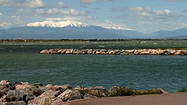 The Pic du Canigou seen from Port Murano, in Barcarès