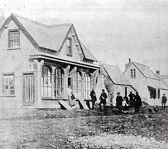 Joseph Brittan - The office of the Canterbury Standard on Hereford Street in 1861