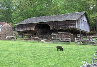 East Tennessee - Early settlers of East Tennessee developed a unique type of double-cantilever barn, which evolved from an earlier barn type in Pennsylvania.