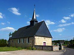 Caorches-Saint-Nicolas (Eure, Fr) église Saint-Martin.JPG