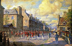 Golden Square Mile - Surrender of Montreal to the British, 1760