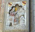Cappella bardi di smn, 02 Riccardo de' Bardi inginocchiato di fronte a san Gregorio Magno (1335-36).JPG