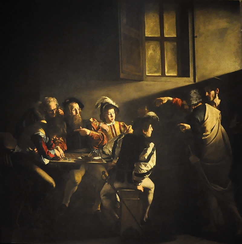 Caravaggio (1571-1610) - De roeping van Matteüs (1599-1600) - Rome San Luigi dei Francesi 10-01-2011 12-07-56.png