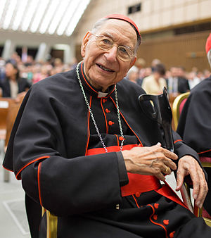 Georges Cottier - Cardinal Georges Cottier at the Paul VI audience hall, 2013.