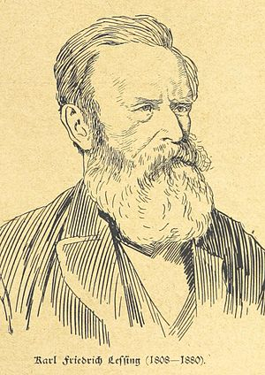 Karl Friedrich Lessing - Sketch depicting Karl Friedrich Lessing