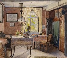 Interior, De Carl Wenzel Zajicek (1923), Con Muebles Propios De La Clase  Media.