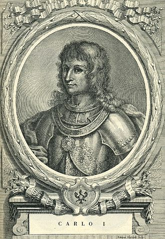Charles I, Duke of Savoy - Etching by Francesco Maria Ferrero di Lavriano (1702)