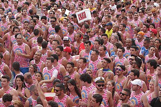 Salvador's Street Carnival, one of the largest in the world Carnaval Barra-Ondina 2014 (12846095963).jpg