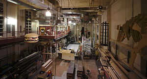 Carnegie Mellon School of Drama - A set construction room in the Purnell Center.