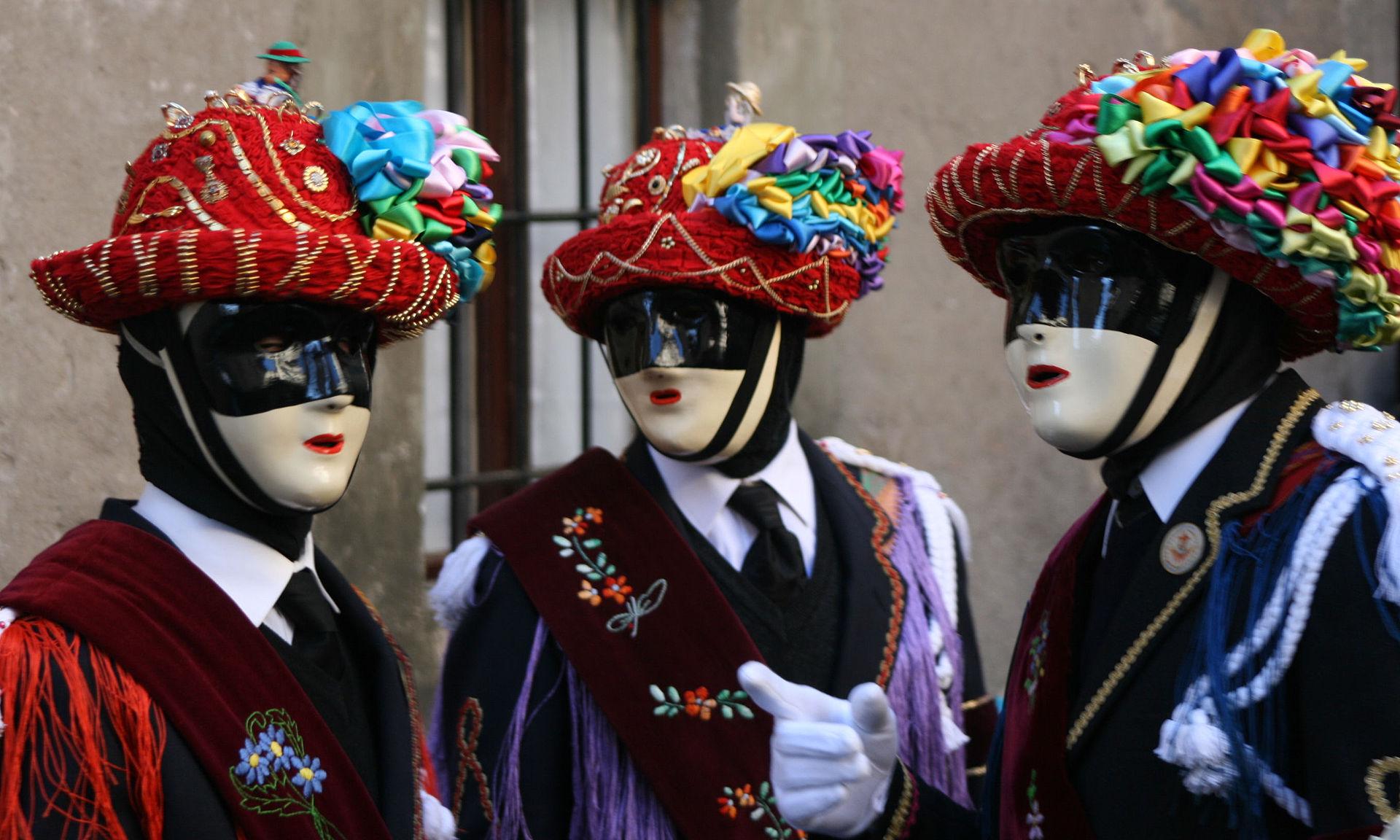 Il Carnevale Bagosso a Bagolino con le tipiche maschere