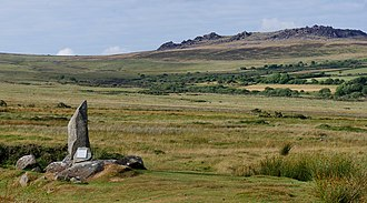 Carn Menyn - Carn Menyn viewed from the south. Carnmenyn monument in the foreground