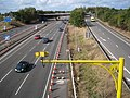 Cars, cameras and cones, M40 junction 15 - geograph.org.uk - 1521303.jpg