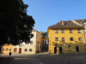 Vlad the Impaler - The house in the main square of Sighișoara where Vlad's father lived from 1431 to 1435