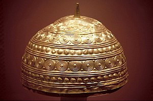 Galicia (Spain) - Bronze Age gold helmet from Leiro, Rianxo
