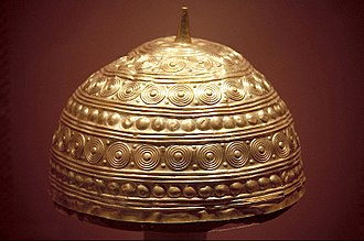 Castro culture - Late Bronze Age golden helmet from Leiro (Galicia)