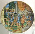 Casteldurante, muzio scevola davanti a porsenna, 1550 ca..JPG