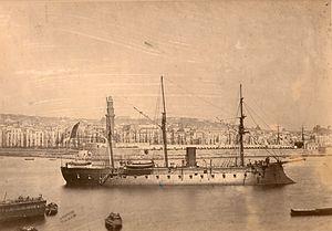 Italian ironclad Castelfidardo - Image: Castelfidardo frigate 1864 01