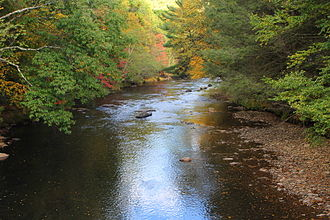 Catawissa Creek - Catawissa Creek from Greenhouse Lane in southern Beaver Township, Columbia County