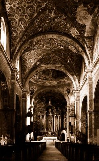 St. Charles Borromeo Cathedral, Matanzas - The interior of the San Carlos Cathedral of Matanzas in 1926