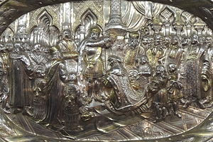 1724 in Russia - Catherine I of Russia's coronation plate by N.Fedorov (1724-7, Kremlin) by shakko - detail