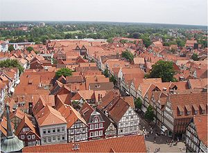 Albrecht Thaer - Rooftop view of Celle
