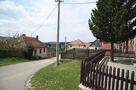 Center of Lesní Jakubov, Třebíč District.JPG