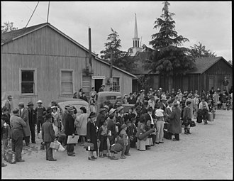 Fremont, California - Families of Japanese ancestry being removed from Centerville, California during World War II.