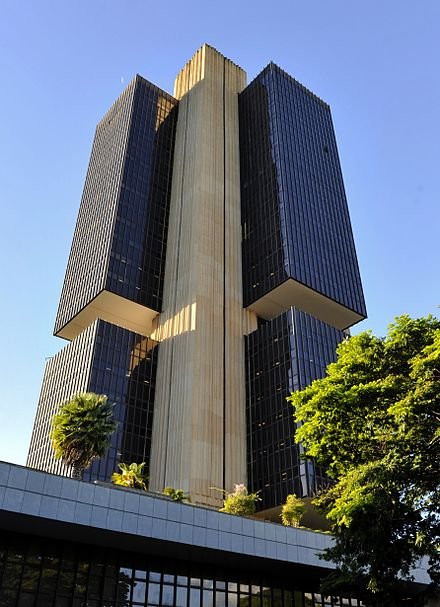 The Central Bank of Brazil (established in 1964) in Brasilia. Central Bank of Brazil.jpg