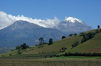 Sierra Negra - Sierra Negra and Pico de Orizaba (viewed from the south)