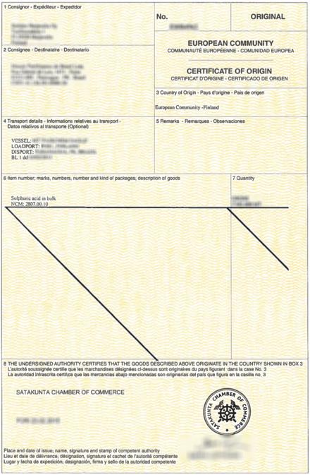 country of origin document