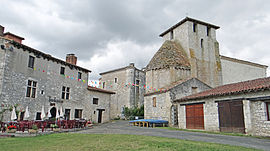 The château and church in Frespech