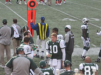 Chad Pennington - Chad Pennington on the sideline during a November 26, 2006 home game