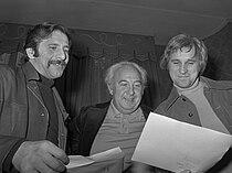 Chaim Topol, Lex Goudsmit en Norman Jewison (1971).jpg