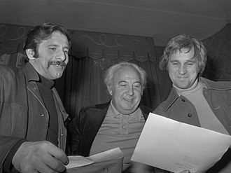 Norman Jewison - Jewison with Chaim Topol and Lex Goudsmit in 1971