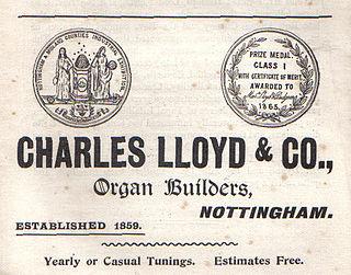 Charles Lloyd (organ builder) English pipe organ builder