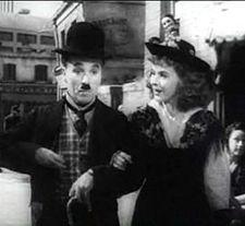 Charles Chaplin y su penúltima esposaPaulette GoddardenEl gran dictador(1940).