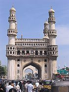 The Charminar in Hyderabad, India.