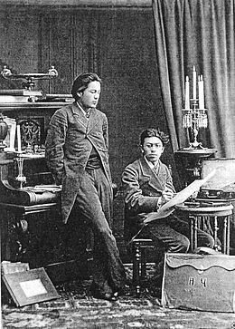 Chekhov with brother 1882.jpg
