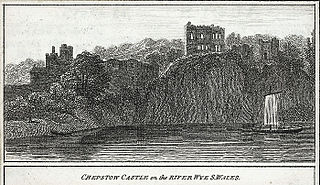 Chepstow castle on the river Wye, S. Wales
